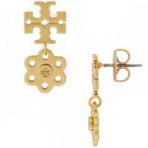 Tory Burch-flower logo earrings